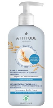 Attitude Sensitive Skin Body Lotion Extra Gentle Unscented