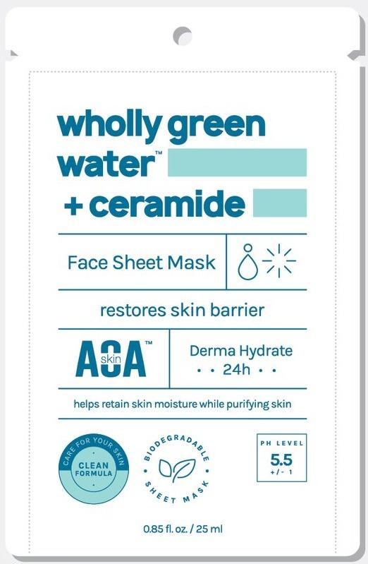 AOA Skin Wholly Green Water + Ceramide Sheet Mask