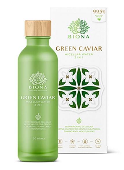 Biona Micellar Water, 3 In 1 - Green Caviar