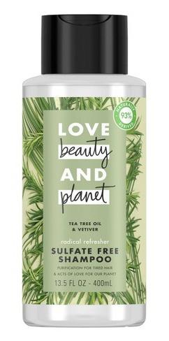 Love beauty and planet Tea Tree Oil & Vetiver Radical Refresher Shampoo
