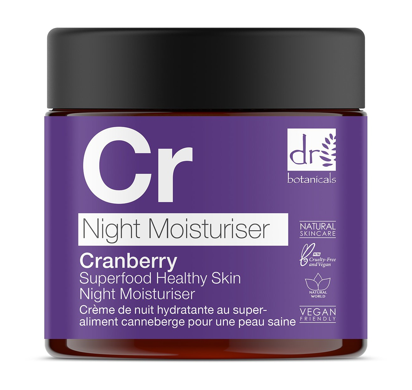 Dr Botanicals Cranberry Superfood Healthy Skin Night Moisturiser