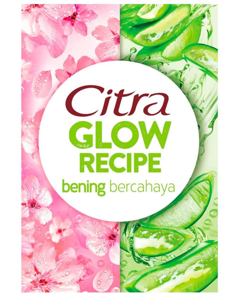 Citra Glow Recipe Juicy Sheet Mask Sakura + Aloe Vera