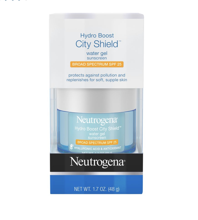 Neutrogena Hydro Boost City Shield™ Water Gel Sunscreen Broad Spectrum Spf 25