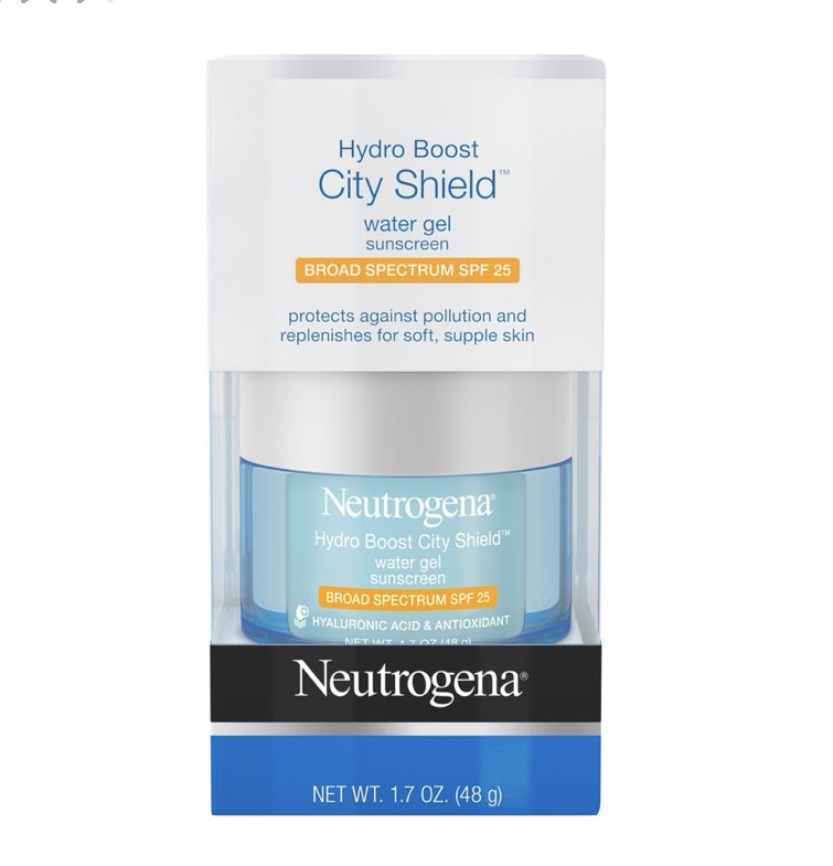 Neutrogena Hydro Boost City Shield™ Water Gel Sunscreen Broad Spectrum Spf 25