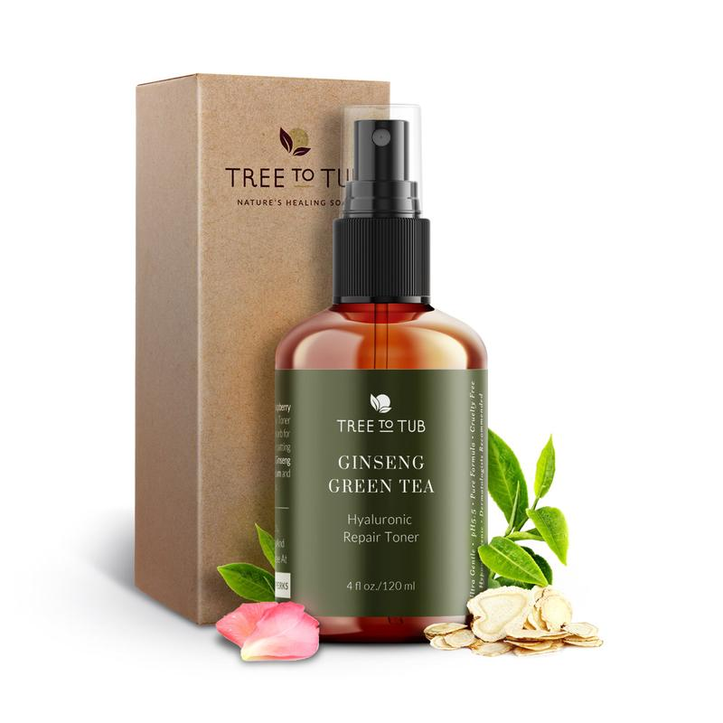 Tree to Tub Ginseng Green Tea Toner With Hyaluronic Acid