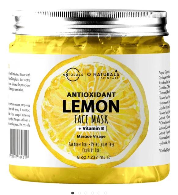 O Naturals Antioxidant Lemon & Vitamin B Gel Face Mask