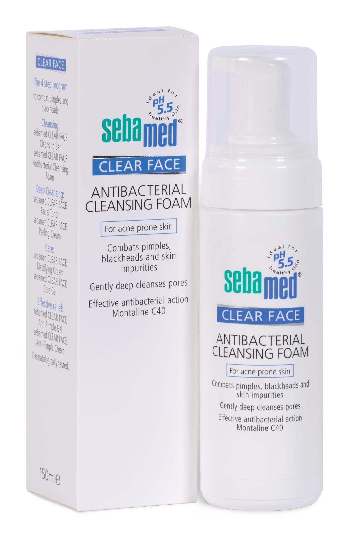 Sebamed Clear Face Antibacterial Cleansing Foam