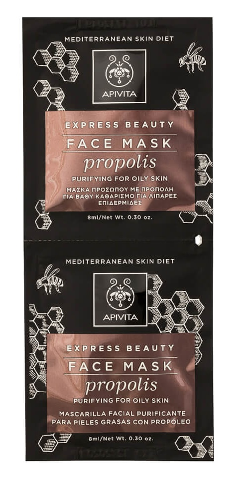Apivita Express Purifying Face Mask For Oily Skin (Propolis)