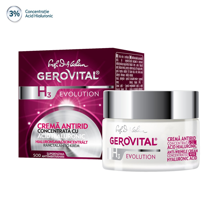 Gerovital H3 Evolution Anti-Wrinkle Concentrated Cream With Hyaluronic Acid