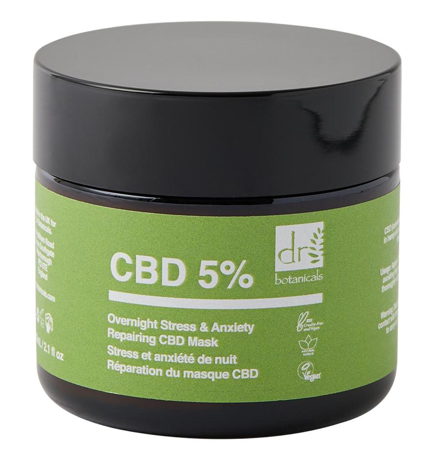 "Dr Botanicals ""CBD 5% Overnight Stress & Anxiety Repairing"" Face Mask"