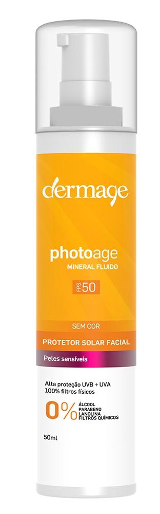 Dermage Photoage Mineral Fluido Sem Cor Fps 50