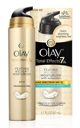 Olay Total Effects Feather Weight Moisturizer With Spf 15 Fragrance Free