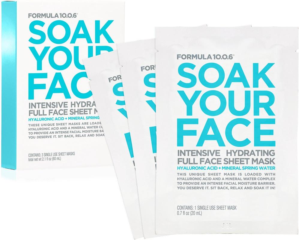 Formula 10.0.6 Soak Your Face Intensive Hydrating Full Face Sheet Mask