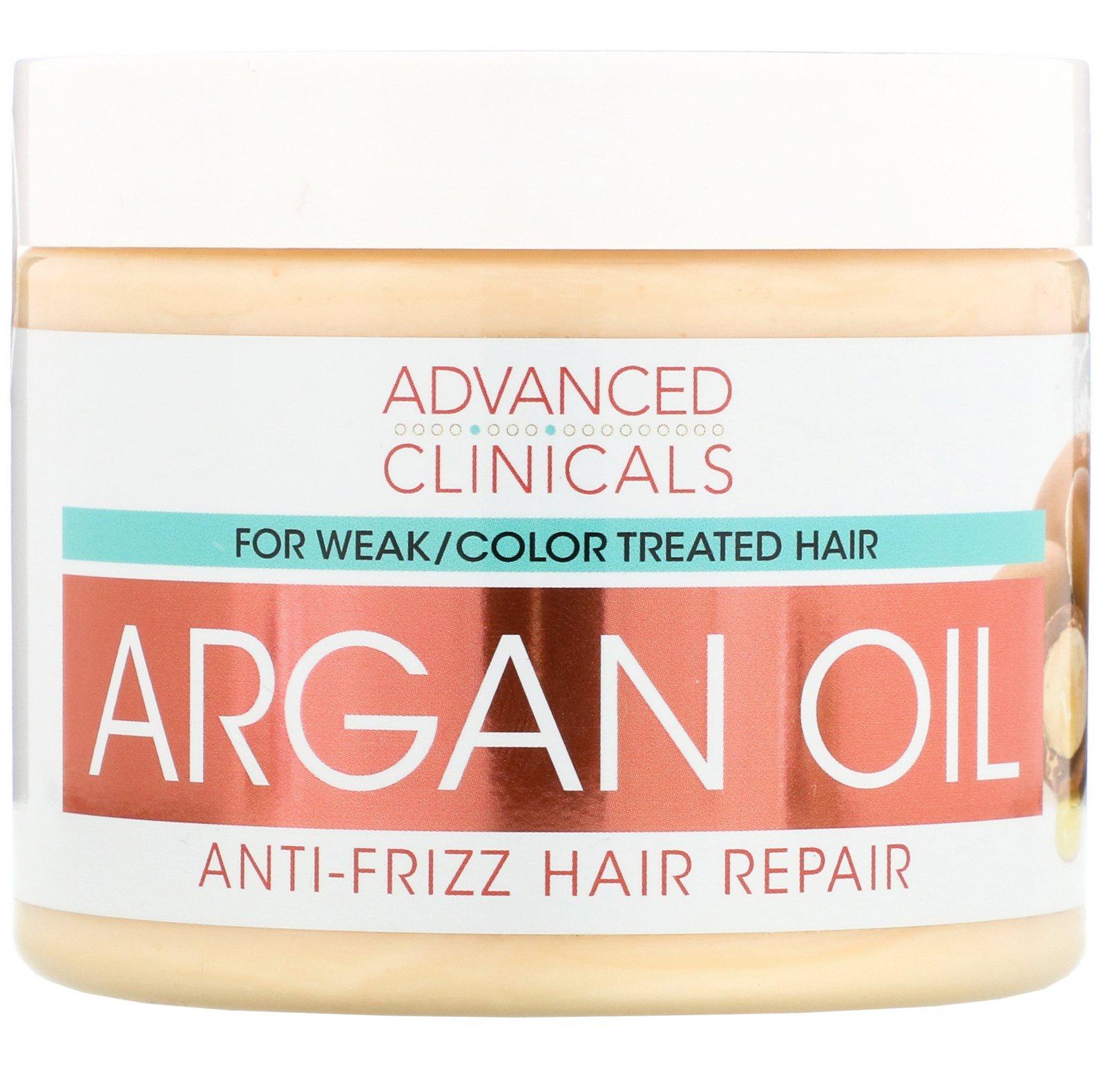 Advanced Clinicals Argan Oil, Anti-Frizz Hair Repair