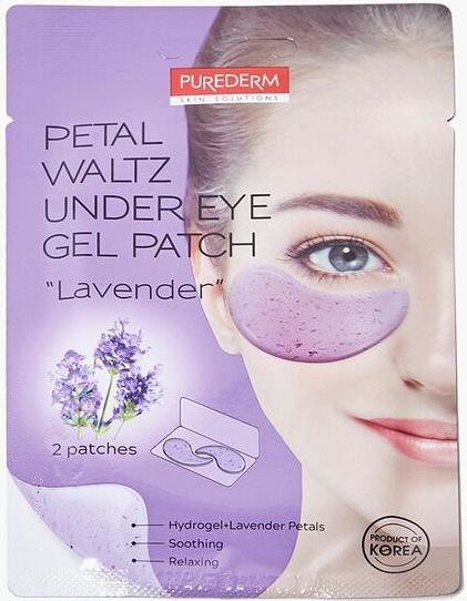 "PUREDERM Petal Waltz Under Eye Gel Patch ""Lavender"""