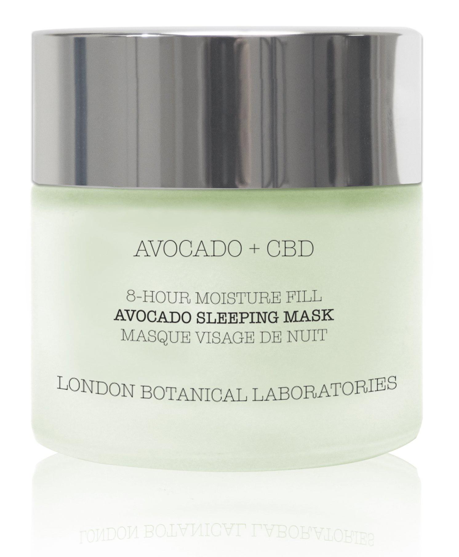 London Botanical Laboratories Avocado + CBD | 8-Hour Moisture Fill Avocado Sleeping Mask