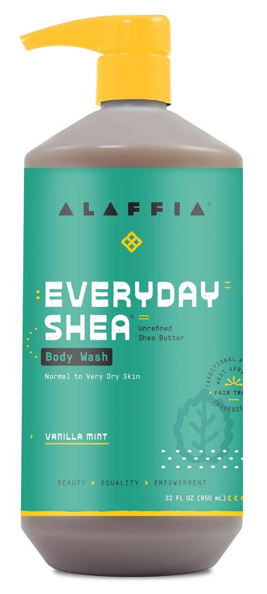 Alaffia Body Wash-Vanilla Mint