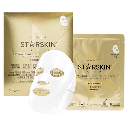 STARSKIN Vip The Gold Revitalizing Luxury Bio Cellulose Second Skin Face Mask