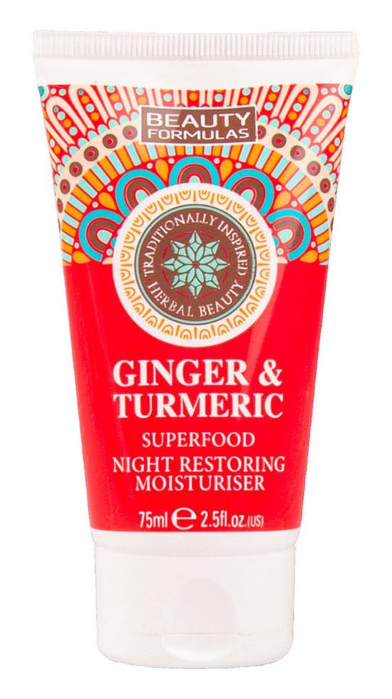 Beauty Formulas Ginger & Turmeric Superfood Night Restoring Moisturizing