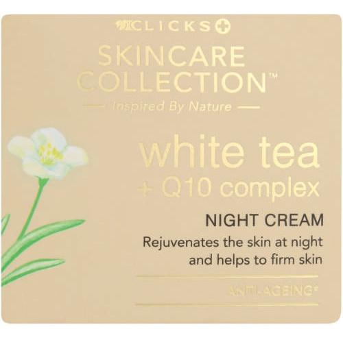 Clicks skincare collection White Tea +q10 Complex Night Cream