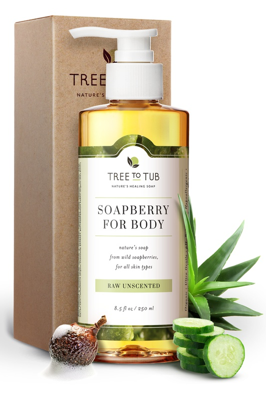 Tree to Tub Soapberry Body Wash Raw Unscented