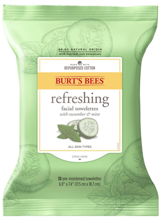 Burt's Bees Refreshing Facial Towelettes With Cucumber & Mint