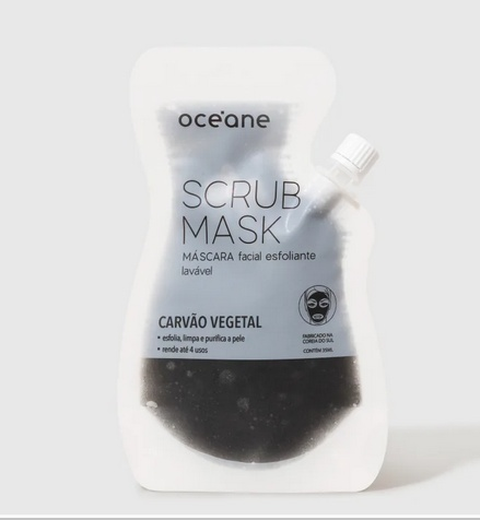 Oceane Scrub Mask - Máscara Facial Esfoliante Carvão Vegetal
