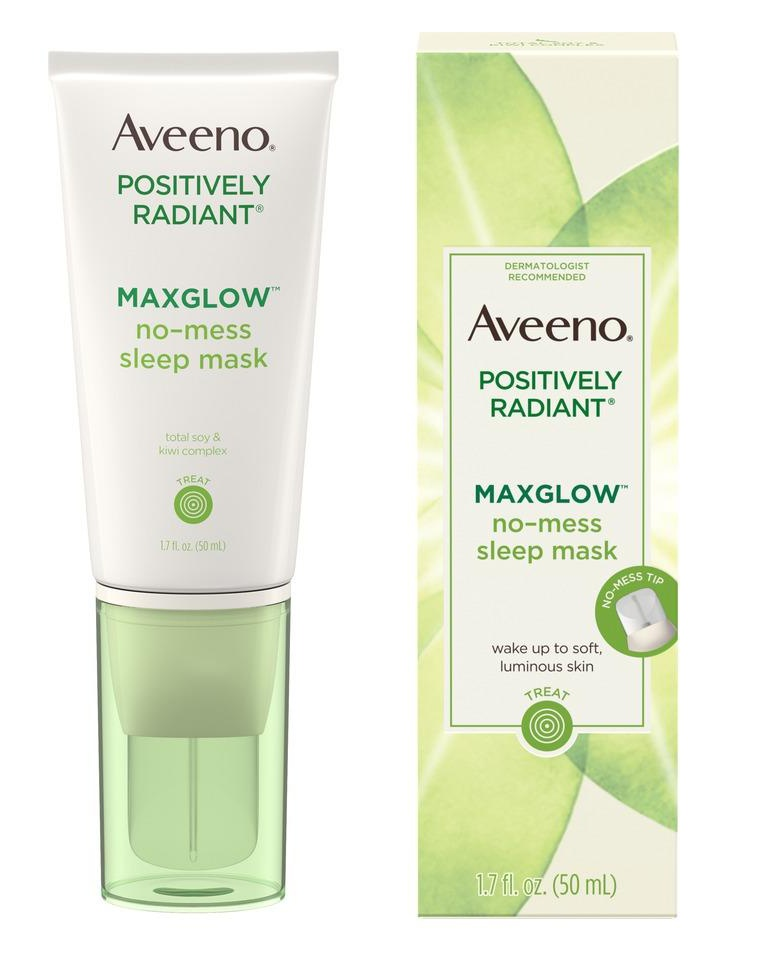 Aveeno Positively Radiant Maxglow No-Mess Sleep Mask
