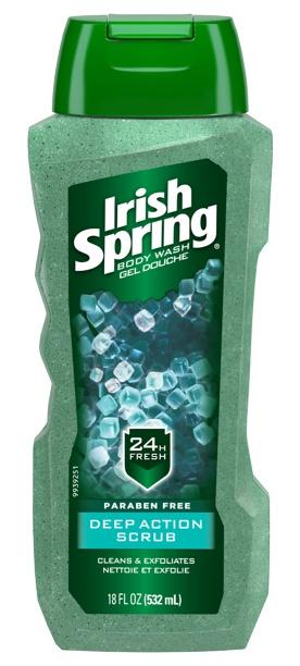 Irish Spring Deep Action Scrub Body Wash