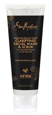 SheaMoisture African Black Soap Clarifying Facial Wash & Scrub