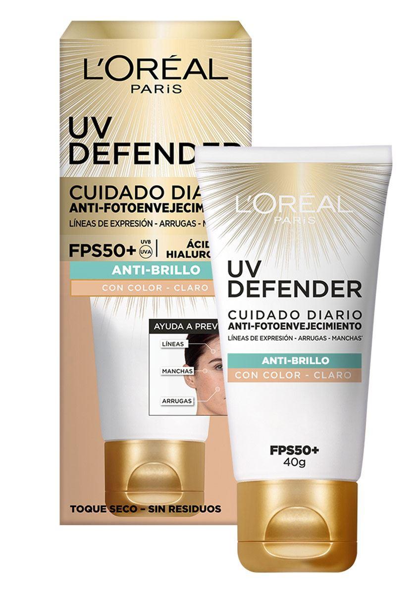 L'Oreal UV Defender Cuidado Diario Anti-Fotoenvejecimiento Anti-Brillo FPS 50+