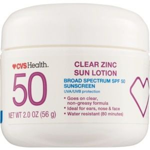 CVS Health Clear Zinc Broad Spectrum Sun Lotion Spf 50