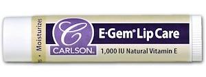 Carlson Labs E Gem, Lip Care, 1000 Iu