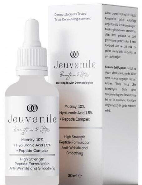 Jeuvenile Matrixyl %10 + Hyaluronic Acid %1.5 + Peptide Complex Anti-Age Kırışıklık Karşıtı Serum