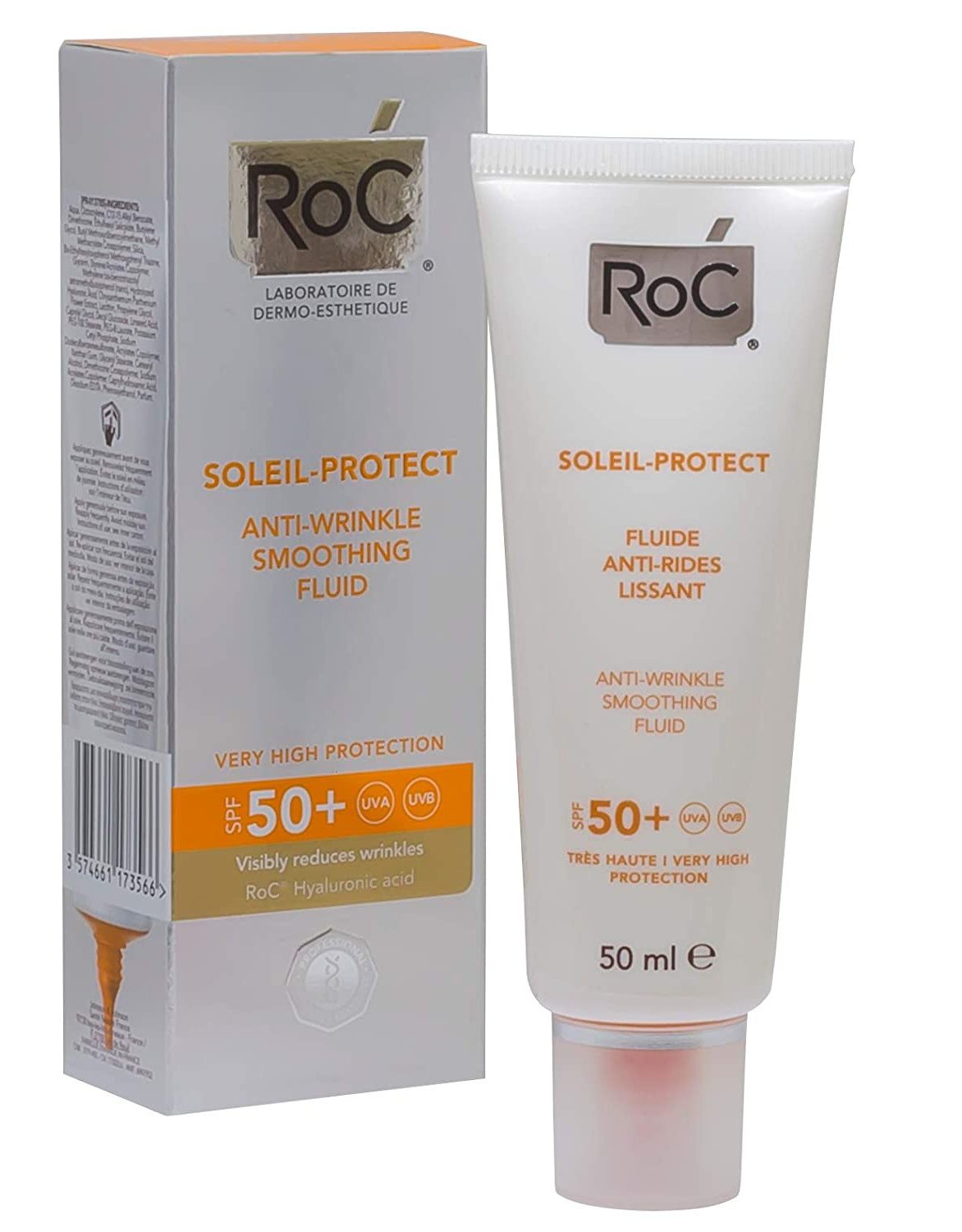 RoC Soleil-Protect Anti-Wrinkle Smoothing Fluid Spf 50+ Sun Products