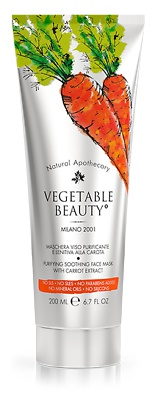 vegetable beauty Carrot Face Mask