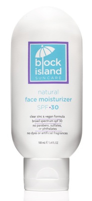 Block Island Organics Natural Face Moisturizer Spf 30