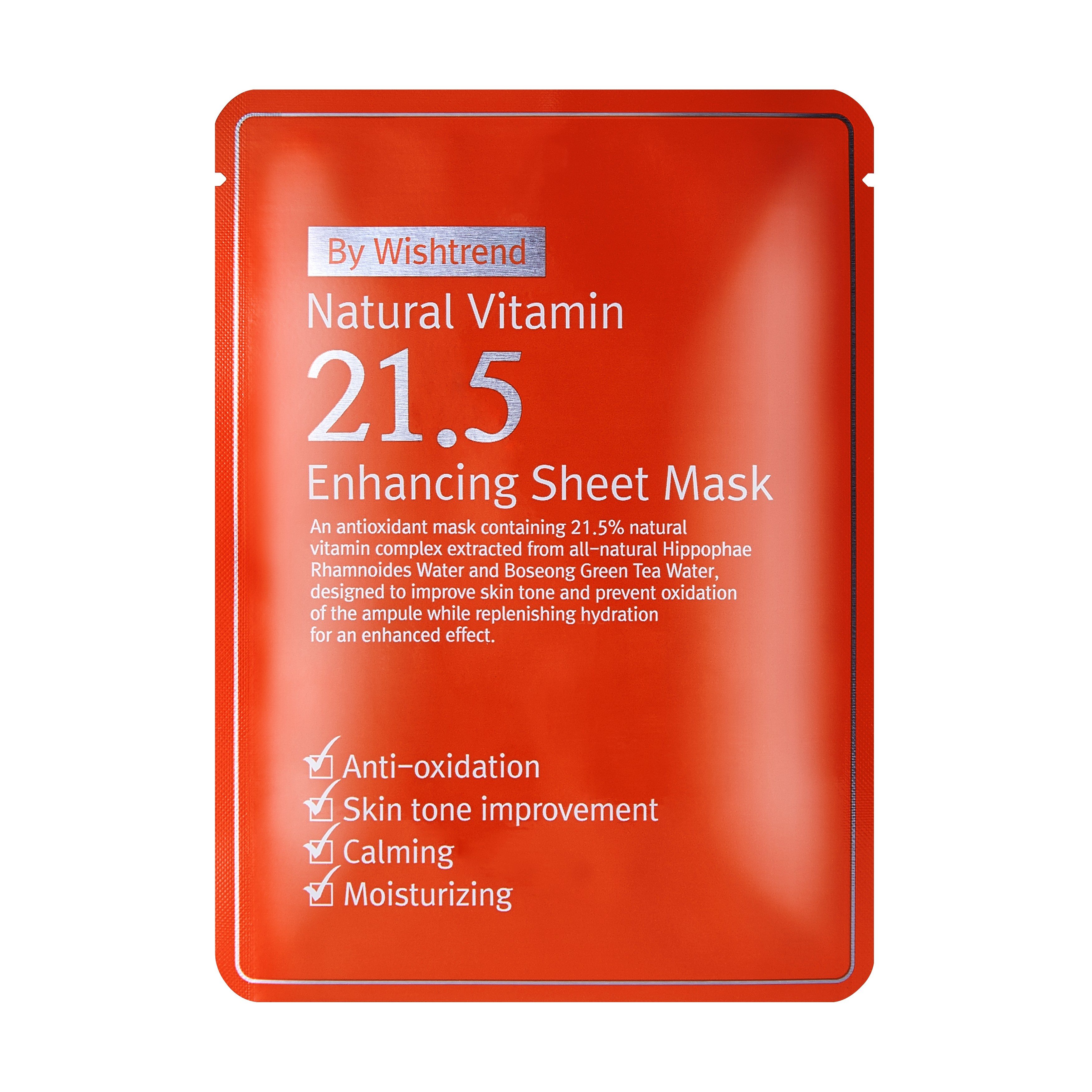 BY WISHTREND Natural Vitamin 21.5 Enhancing Sheet Mask