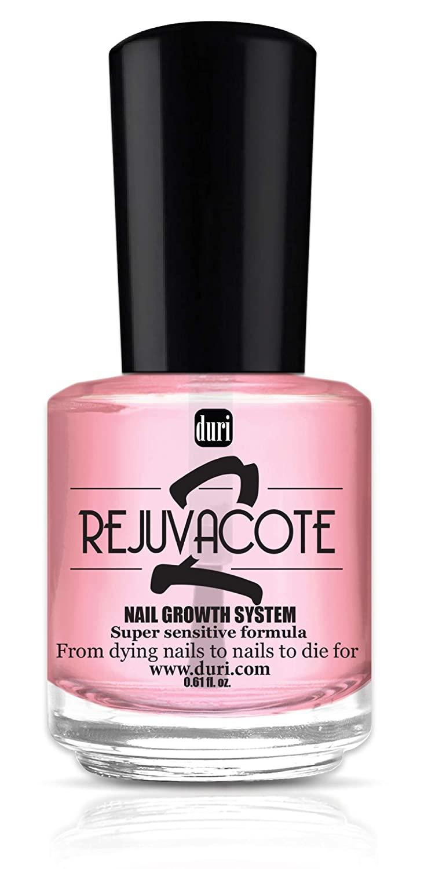 Duri Rejuvacote 2 Nail Growth System, Super Sensitive Formula, Base And Top Coat
