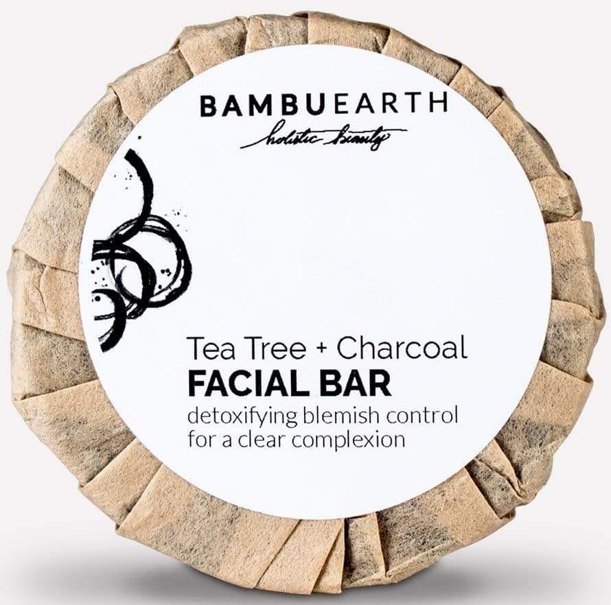 Bambu Earth Tea Tree + Charcoal Facial Bar