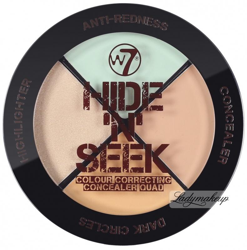 W7 Hide 'N' Seek - Set Of 3 Concealers + Highlighter