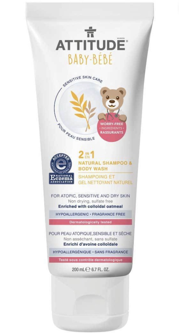 Attitude 2-In-1 Baby Shampoo & Body Wash