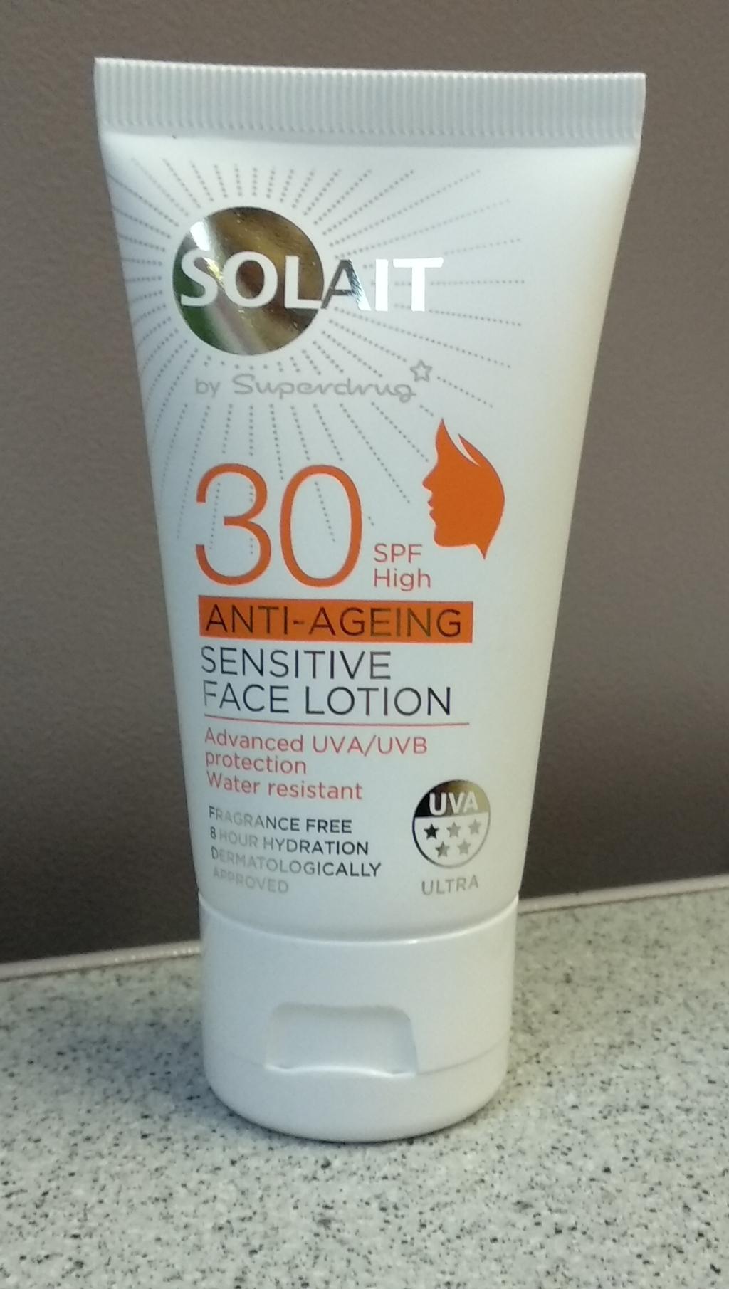 Solait Spf30 Anti-Ageing Sensitive Face Lotion