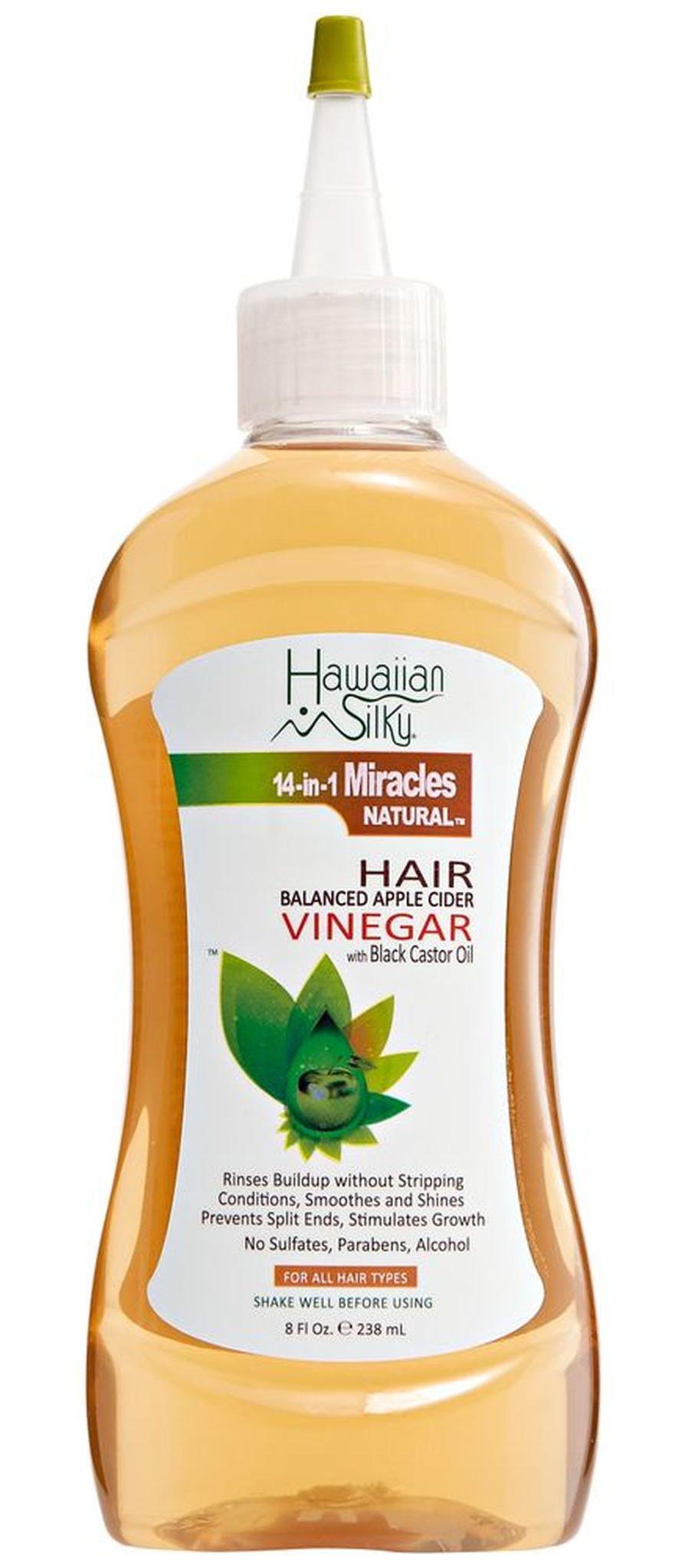 Hawaiian Silky Apple Cider Vinegar Hair Balanced Apple Cider Vinegar With Black Castor Oil