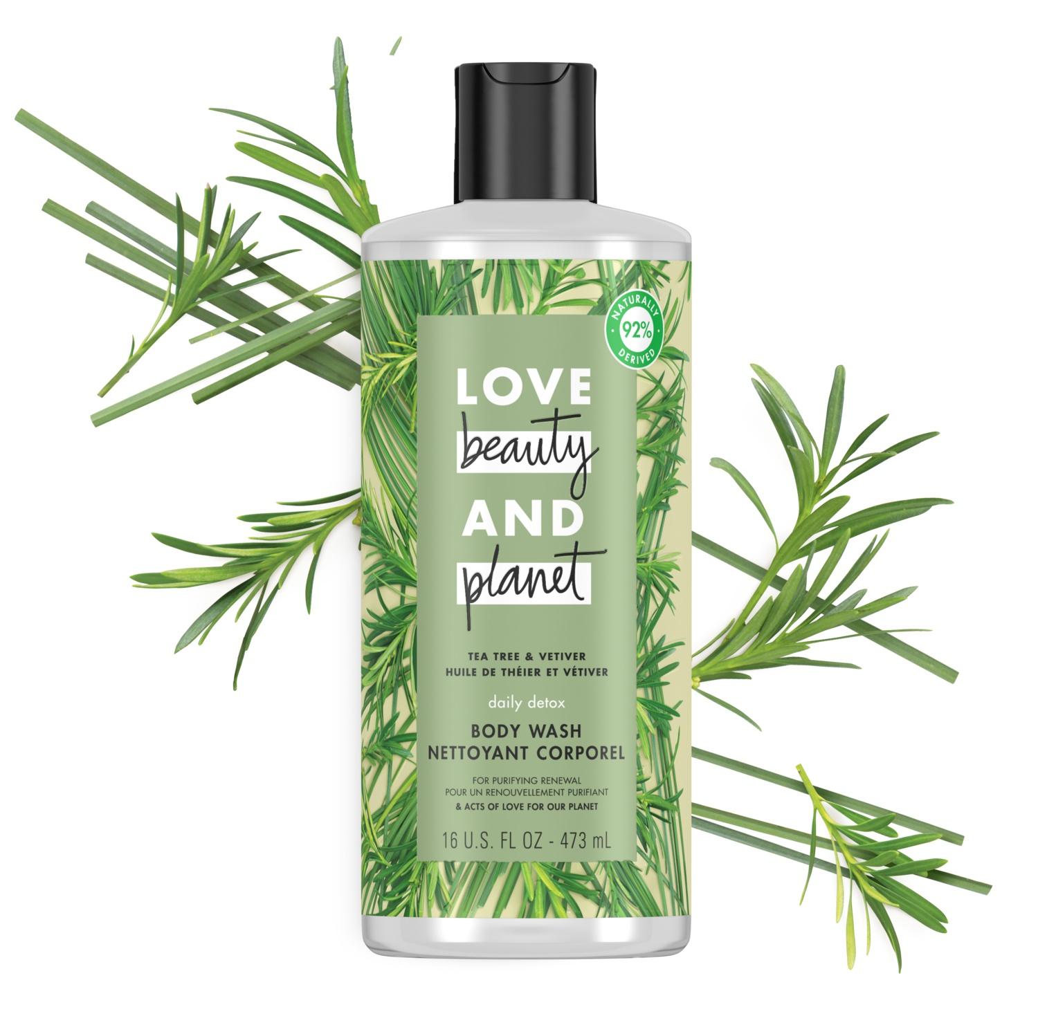 Love beauty and planet Tea Tree & Vetiver Body Wash