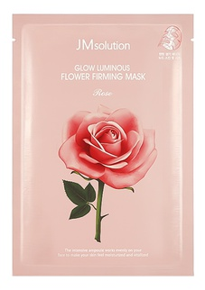 JM Solution Glow Luminous Flower Firming Sheet Mask Rose