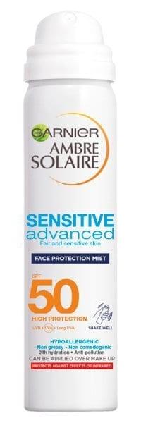 Garnier Ambre Solaire Sensitive Face Sun Cream Mist Spf50