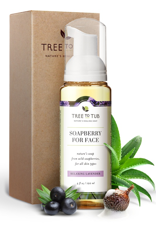 Tree to Tub Soapberry Facial Cleanser Relaxing Lavendar
