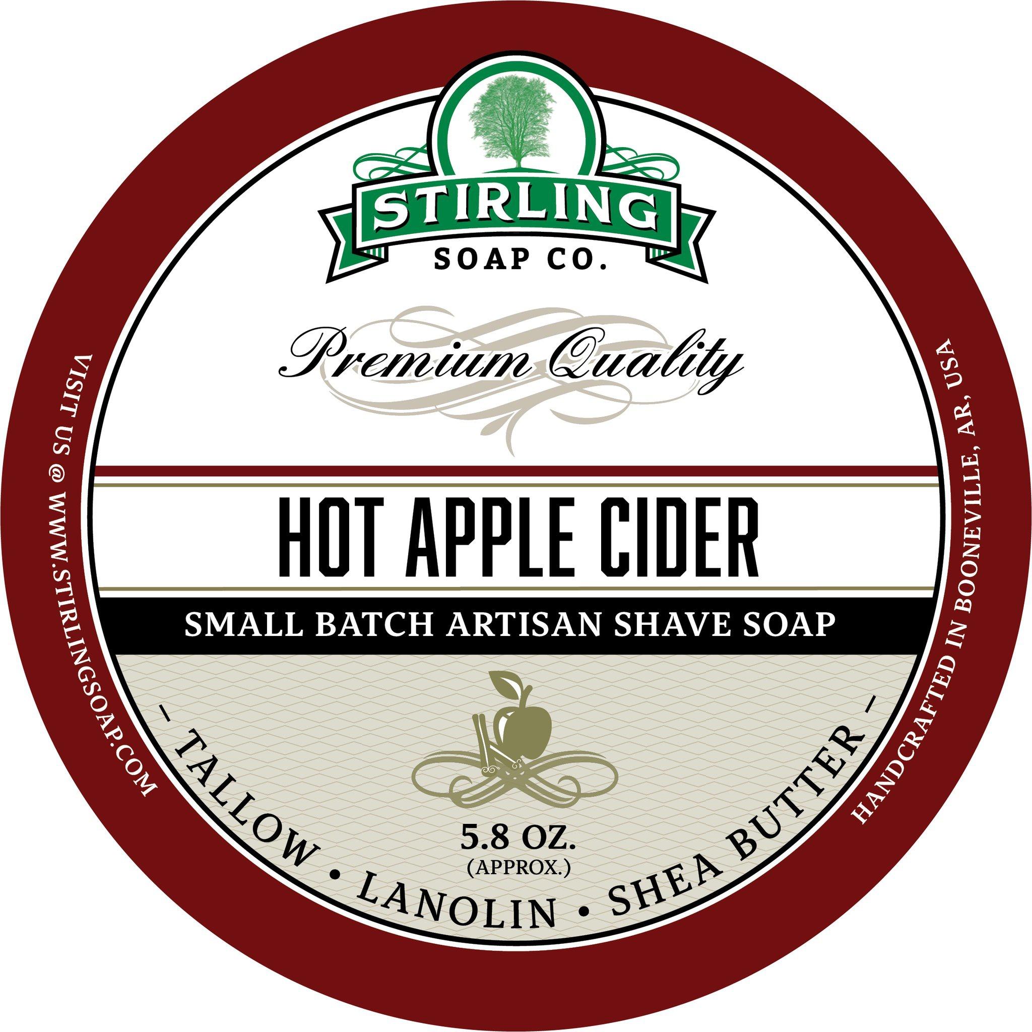 Stirling Soap Co. Hot Apple Cider Shave Soap