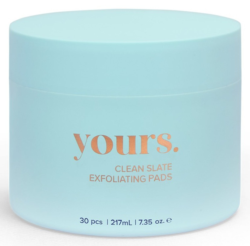 Yours. Clean Slate Exfoliating Pads